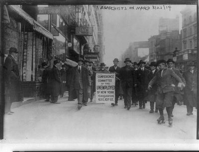 Manifestation anarchiste à New York en 1914
