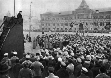 Lenin 7 november 1918 speech 1year great socialist october revolution red square.jpg