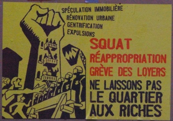 Affiche contre la gentrification.